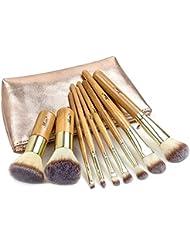 Matto Makeup Brushes 9-Piece Makeup Brush Set Foundation Brush with Travel Makeup Bag