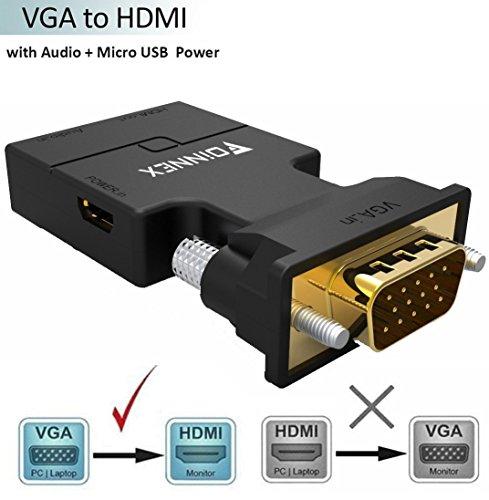 VGA INPUT to HDMI OUTPUT Converter Box Type(WHITE) - 5