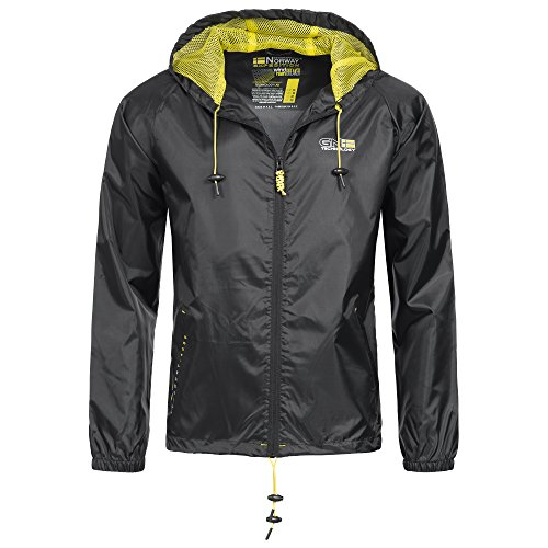 Geographical Norway Nijak Herren Regen Jacke 044 Übergangs Windbreaker Outdoor Regenjacke