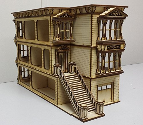 - laser cut wood dollhouse 1:24 half inch scale KIT new