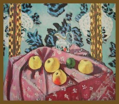 Germanposters Henri Matisse Lactancia Ébano con Manzanas en un Color Rosa Mesa paño – Póster de: Amazon.es: Hogar