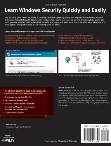 Buy Microsoft Windows Security Essentials (Essentials (John Wiley