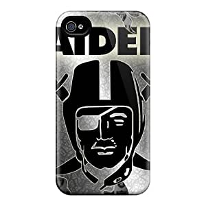 Pretty BLiMp21868deIMj Iphone 4/4s Case Cover/ Oakland Raiders Series High Quality Case