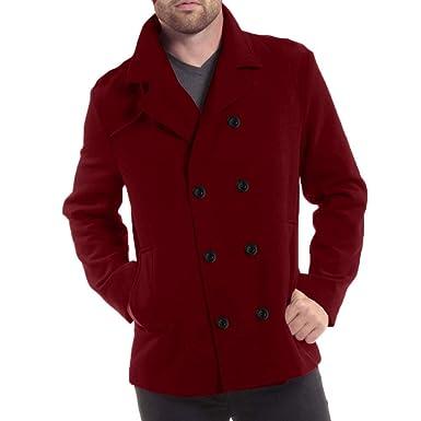 Amazon.com: Himtak - Chaqueta de lana para hombre, de ...