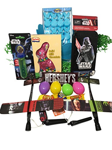 Star Wars Easter Basket Bundle with Star Wars Toys, Candy, a