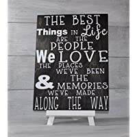 Friends Sign, Gift For Friend, The Best Things in Life are the People we Love, Home Decor, Wood Sign, Camping Decor, Mothers Day Gift,