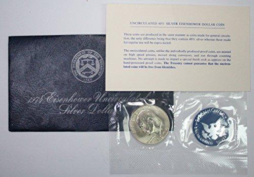 1974 S Eisenhower Ike Dollar $1 Brilliant Uncirculated in Blue Pack Envelope