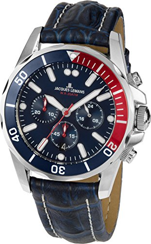 Jacques Lemans LIVERPOOL 1-1907ZB Mens Chronograph very sporty