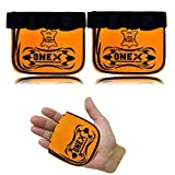 OneX Leather Weight lifting Training Gloves Gym Crossfit Fitness & Workout Fingerless Gloves with Strong Grip