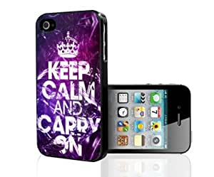 Keep Calm Carry on Hard Snap on Phone Case (iPhone 4/4s)