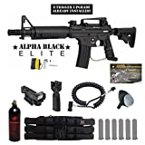 Cheap MAddog Tippmann US Army Alpha Black Elite w/E-Grip Tactical Red Dot Paintball Gun Package – Black