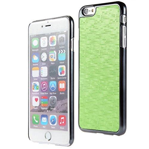 Bralexx 6233Metallic-6225Grün-Karo Smartphone Case passend für Apple iPhone 6 Plus 13,9 cm (5,5 Zoll) metallic grün