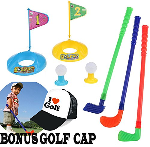 Kids Outdoor Club - Janestone Outdoor Children Golf Ball Plastic Toy Set Early Educational Toys for Kids Sports Toy