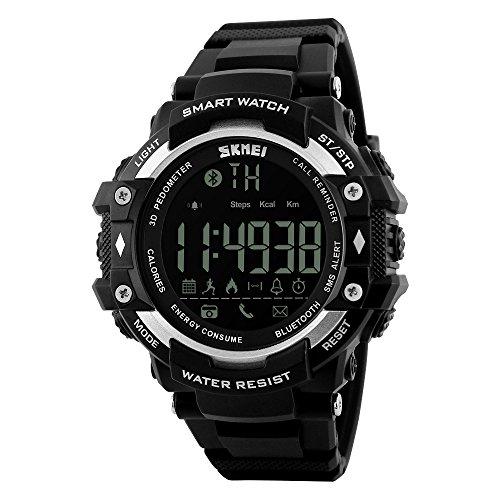 SKMEI 1226 Smart Watch Pedometer Calories Clocks Waterproof Digital Wristwatches Outdoor Sports Watches (G-shock Mens Rubber Watch)