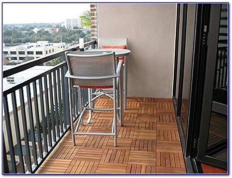 balcon Pour terrasse patio en int/érieur ou en ext/érieur Garden Mile Dalles de terrasse en bois dur antid/érapantes /à clipser 30 x 30/cm contour de jacuzzi toit-terrasse