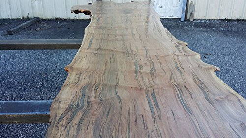 Thick Live Edge Figured Curly, Burly Ambrosia Maple Bar Top