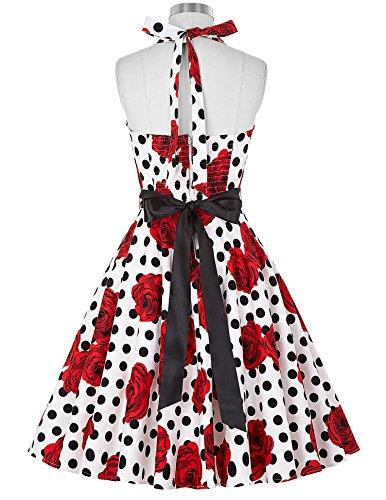 Vestito al collo Donna allacciatura Cocktail KARIN di GRACE 1950 Vintage 22 con 0TWw5q15
