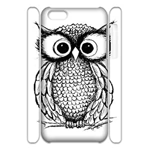 YNFYC Owl3 Phone 3D Case For Iphone 5C [Pattern-1]