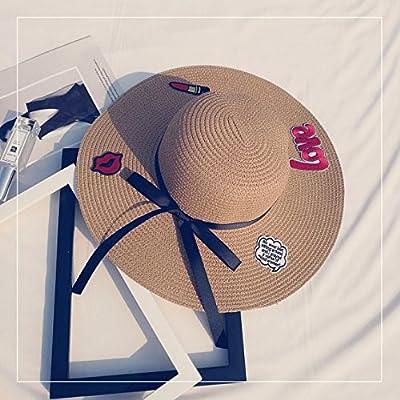 Les sports d'extérieur chapeaux femmes fashion loisirs plage pliage hat chapeau de soleil ,M (56-58cm), café léger - la courroie d'attache + Tendance