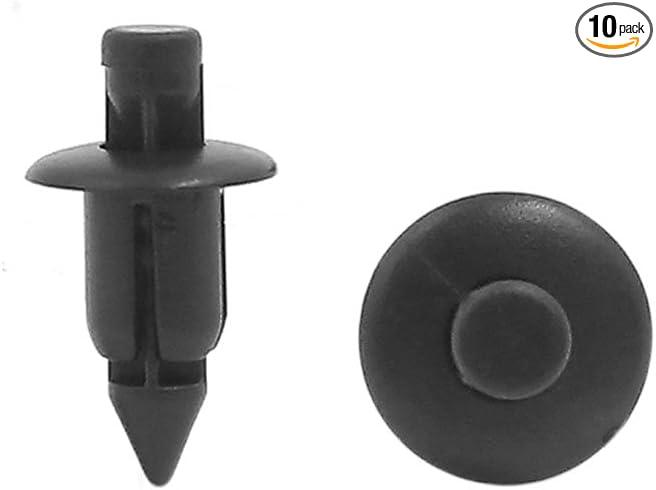 sourcingmap 100 pcs 6mm Hole Car Clips Push Retainer Fastener Rivet Bumper Pin