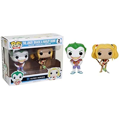Funko Pop! Heroes The Joker [Beach] & Harley Quinn 2 Pack: Toys & Games