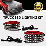 cool accessories for trucks - Truck Bed Rail Lights ,Derlson Truck Bed Lighting Kit LED Strip Lights with On/Off Switch and Fuse for Trucks, Trailers, Pickups, RVs, Vans and Cargos [ 2x60inch, IP67 Waterproof ,Circuit Protection]
