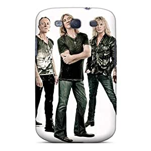 Shock Absorption Hard Phone Cases For Samsung Galaxy S3 (uOk12858hFkS) Unique Design Colorful Def Leppard Band Image