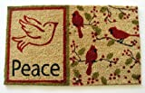 Geo Crafts G633 PVC Backed Coco Doormat, Peace (Discontinued by Manufacturer)