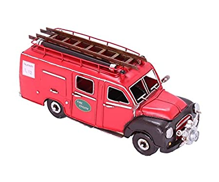 Blitz Retro Opel Pump Model Tin Front Car Fire Truck nkw0OP