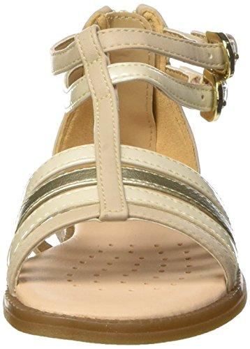 Geox Sandal Karly Girl D, Sandalias con Cuña Para Niñas Beige (BEIGEC5000)
