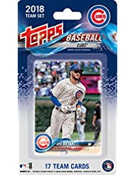 Chicago Cubs 2018 Topps Factory Sealed Limited Edition 17 Card Team Set with Kris Bryant, Kyle Schwarber and Javier Baez plus