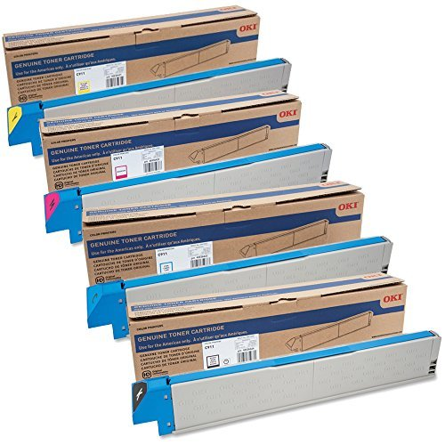 OKIdata 45536424, 45536423, 45536422, 45536421 Standard Yield Toner Cartridge Set ()