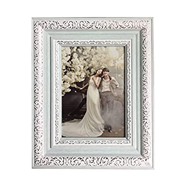 Lilian PC blue photo frames(8 x 10in), Choose PS polymer material environmental protection(4383-A-4S-f)