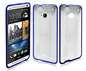 Ionic Designed Hybrid Soft And Hard Case for HTC ONE 2013 Model /M7 (Blue)