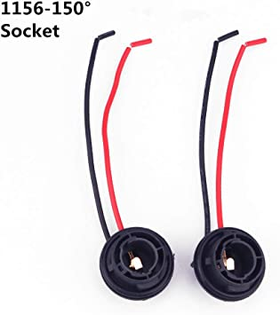 WMYCONGCONG 6 PCS 1156 Turn Signal Brake Light Bulb Socket Wire Harness Connector 1156 Socket