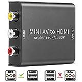 Electop AV to HDMI Mini 1080P/720P Converter Box Composite CVBS AV RCA to
