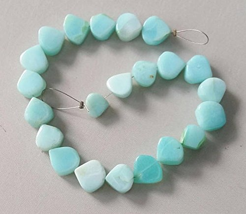 - PERUVIAN OPAL smooth heart shaped beads,sky blue color heart shaped beads,good quality,8x9 mm -- 11x11 mm approx,8