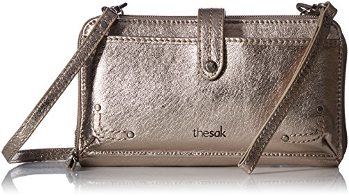 The Sak Iris Large Smartphone Crossbody, Pyrite Metallic