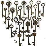 N'joy 26-Piece Mixed Steampunk Vintage Skeleton Keys,Extra Large,Antique Bronze(L26B)