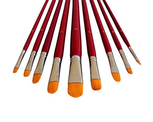 9 Künstlerpinsel Set Katzenzungenpinsel Katzenzungen Acrylpinsel Aquarellpinsel für Acrylfarben Aquarellfarben