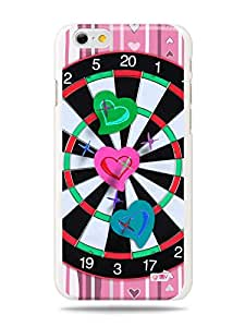 GRÜV Premium Case - 'Fun Cute Love Girly Girls : Hearts Dartboard' Design - Best Quality Designer Print on White Hard Cover - for Apple iPhone 6