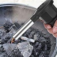 Delaman Soplador de Aire Ventilador Portátil a Batería para Barbacoas, Invierno Cálido, para Acampar al Aire Libre Parrilla de Carbón Barbacoa de Carbón