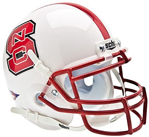 Schutt North Carolina State Wolfpack Mini XP Authentic Helmet - NCAA Licensed - NC State Wolfpack Collectibles