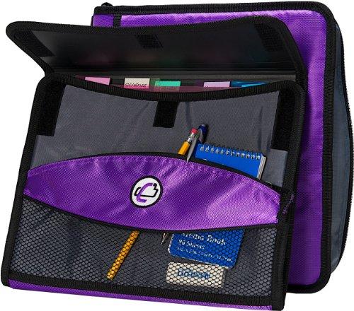 Case-it Sidekick 2-Inch O-Ring Zipper Binder With
