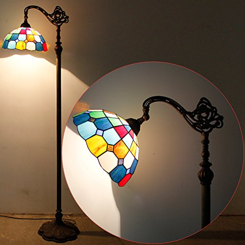 Tiffany Style Reading Floor Lamp Table Desk Lighting Tartan Design W12H64 E26 by werfactory (Image #8)