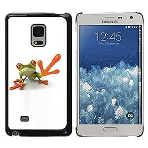 iKiki Tech / Estuche rígido - Man Frog High Five White Minimalist - Samsung Galaxy Mega 5.8 9150 9152