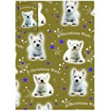 "Westie Dog Christmas Wrapping Paper ""A Christmas Wish"""