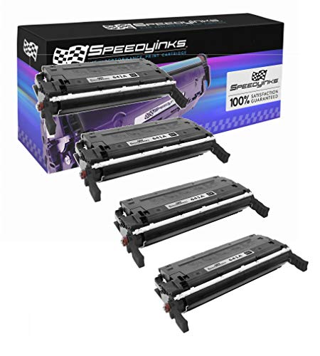 Speedy Inks Remanufactured Toner Cartridge Replacement for HP 641A / C9720A (Black, 4-Pack)