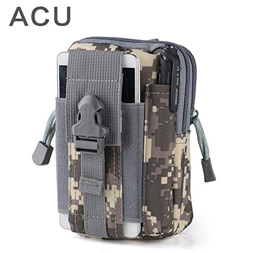 Tactical Molle bag Pouch Belt Waist Packs Bag Pocket Military Waist Pocket for Iphone 6 6s 5s for Samsung Galaxy S6 (North Supreme The Face Jacket)