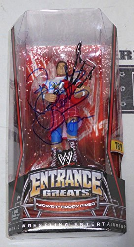 Rowdy Roddy Piper Signed WWE Entrance Greats Action Figure COA Autograph - PSA/DNA Certified - Autographed Wrestling Cards